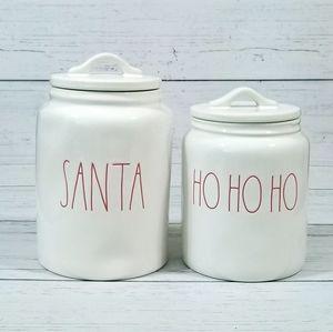 Rae Dunn Christmas Canisters Santa Ho Ho Ho